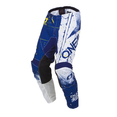 Oneal 19 Element Shred MX Pant Blue Youth  (2/3t) - Blue White - Size 18