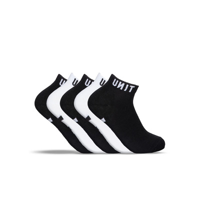UNIT Lo Lux Black/White Sport Socks (5pkt)