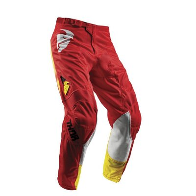 Thor S8Y Pulse Air MX Pant - Red Yellow - Size 20