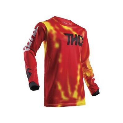 Thor Youth Pulse Air S18Y MX Jersey - Radiate Red - Small