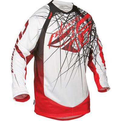 Fly Evo MX Jersey - White/Red - Large