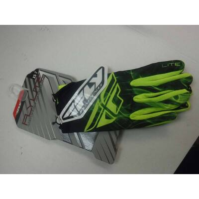 Fly Kinetic Lite MX Glove - Fluoro Yellow - XL