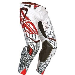 Fly Evo MX Pants - White/Red - Size 38