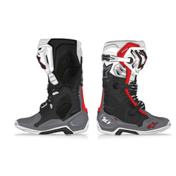 Alpinestars Tech 10 Supervented MX Boots - Black/White/Grey/Red