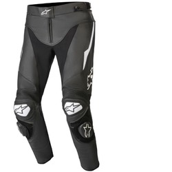 Alpinestars Track V2 Leather Pants - Black/White