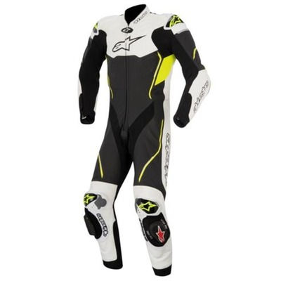 Alpinestars Atem 1pc Suit Motorbike - Black/White - Extra Small