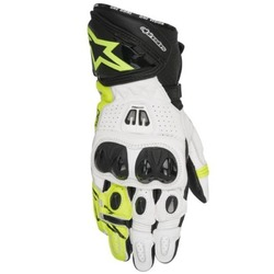 Alpinestars GP Pro R2 Leather Motorcycle Gloves - Black/White/Yellow