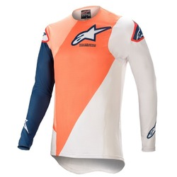Alpinestars Youth Racer Blaze MX Jersey 2021 - Orange/Dark Blue