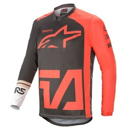 Alpinestars Youth Racer Compass MX Jersey 2021 - Red/White/Black