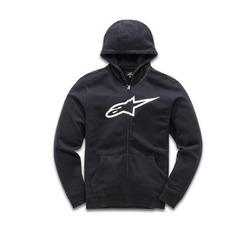 Alpinestars Ageless ii Zip Hooded Fleece - Black/White
