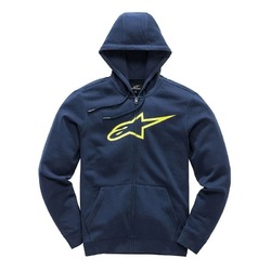 Alpinestars Ageless ii Zip Hooded Fleece - Navy/Yellow