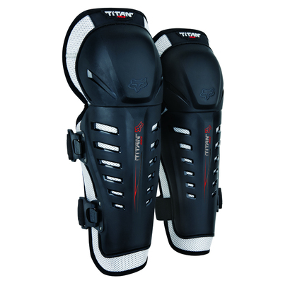 Fox TITAN RACE KNEE/SHIN GUARD - Black - Size OS