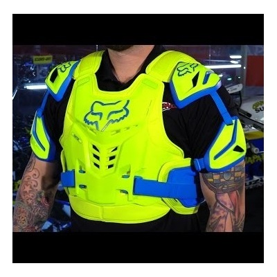 Fox Raptor Vest Chest Plate Protector - Blue/Yellow