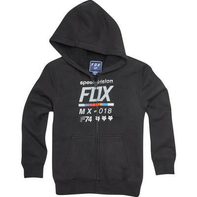 Fox Youth Drafter Sherpa Hoodie - Black - Size YXL