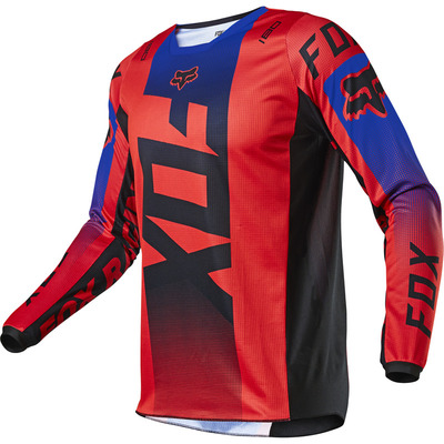 Fox Youth 180 Oktiv MX Jersey 2021 - Flouro Red