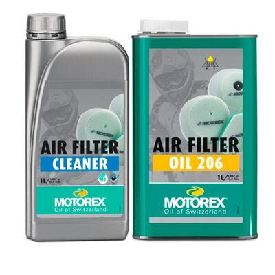 Motorex Air Filter Maintenance Pack - Oil 206 + Cleaner 1 Litre