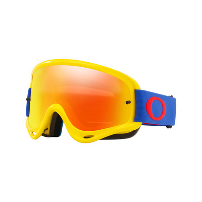 Oakley O Frame Yellow Blue MX Goggle